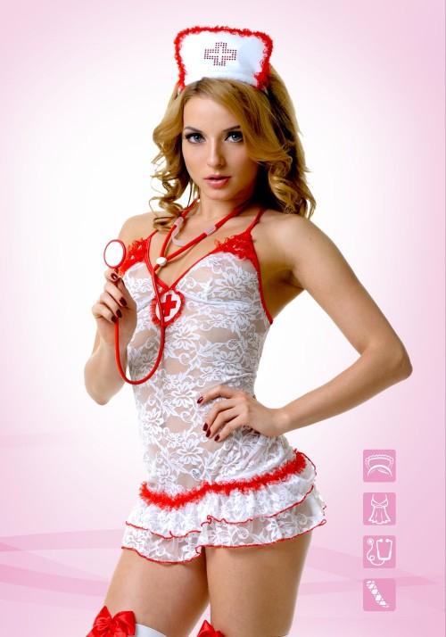 LeFrivole Костюм Медсестры кружевной (S/M)