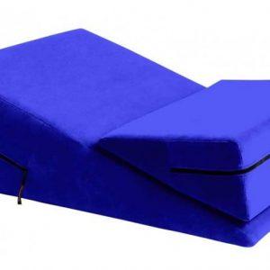 Liberator Wedge/Ramp Combo Подушка для любви комбо большая+малая, синяя микрофибра