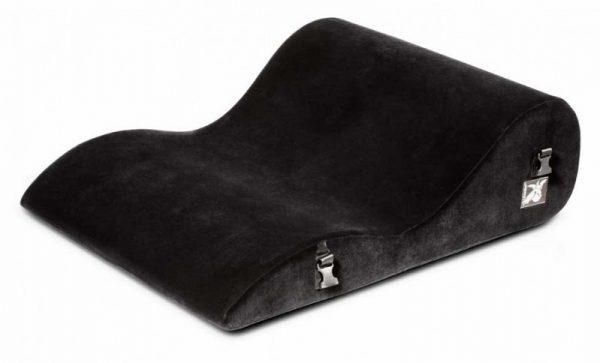 Liberator BL Retail Hipster Подушка для любви большая с креплениями, черная микрофибра