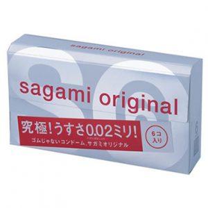 **SAGAMI Original 002 -  6 шт Полиуретановые презервативы 0,02 мм
