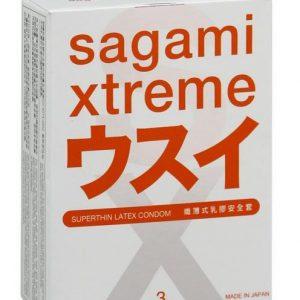 **SAGAMI Xtreme  3шт. Презервативы ультратонкие, латекс 0,04 мм