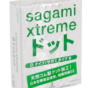 SAGAMI  Xtreme Form-fit 3шт. Презервативы с точечной текстурой, латекс 0,06 мм