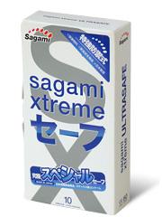 SAGAMI Xtreme Ultrasafe 10шт. Презервативы с двойным кол-вом смазки, латекс 0,09 мм