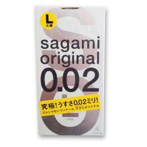 **SAGAMI Original 002 -   4 шт Полиуретановые презервативы 0,02 мм