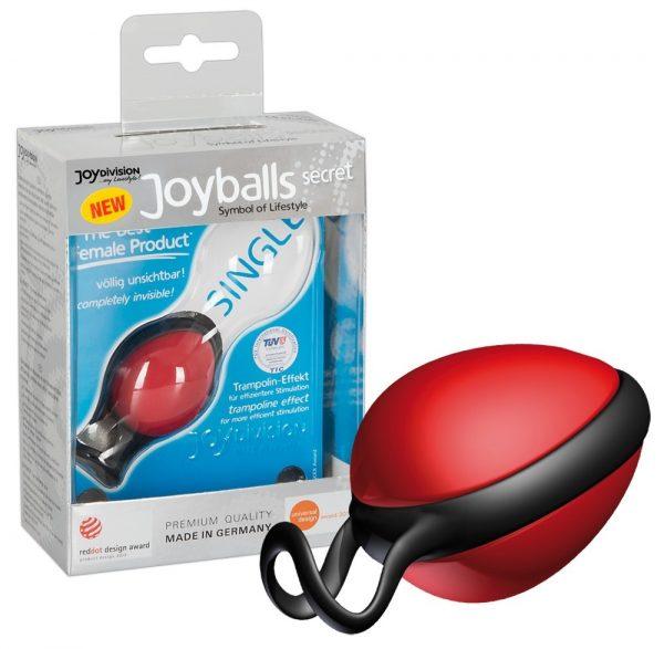 Joyballs secret Вагинальный шарик красный со смещенным центром тяжести 45 гр.