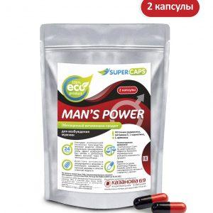 Средство возбуждающее с L-carnitin Man's Power 2 капсулы