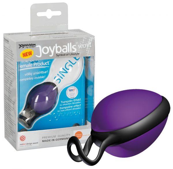 Joyballs secret Вагинальный шарик фиолетовый со смещенным центром тяжести 45 гр.