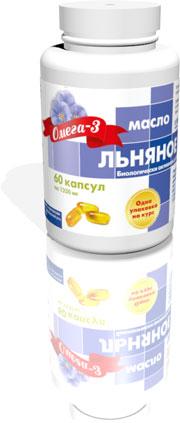 БАД Льняное масло 60 капсул по 1360мг
