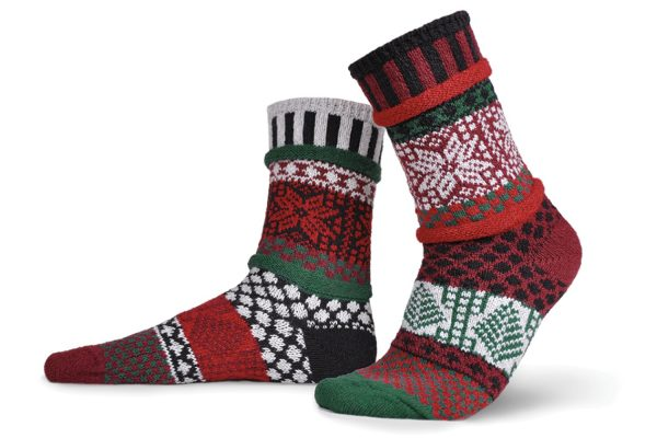 Solmate Socks Носки унисекс Poinsetta (р-р 35-37)