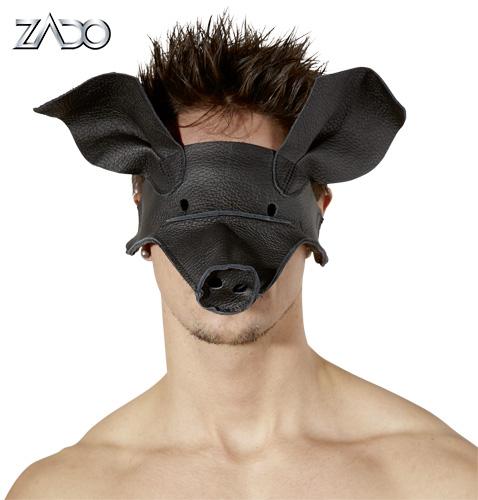 Маска свиньи кожаная ZADO