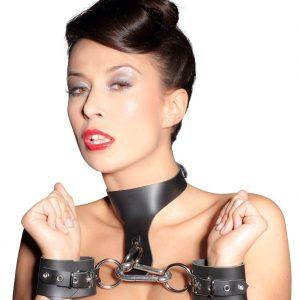 BDSM Кожаный набор оков ZADO