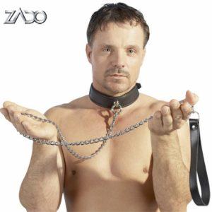 BDSM Привязь кожаная ZADO Leather Leash