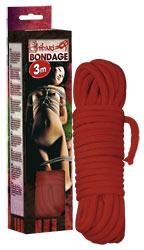 BDSM Шнур Bondage rope 3m red