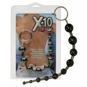 Бусы черные X-10 Beads