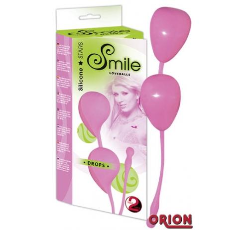 Smile Шарики вагинальные Drops розовые