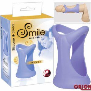 Smile Насадка для пениса Tricky голубая