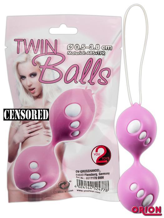 Вагинальные шарики Twin Balls розовые
