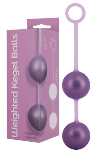 Вагинальные шарики Weighted Kegel Balls сиреневые