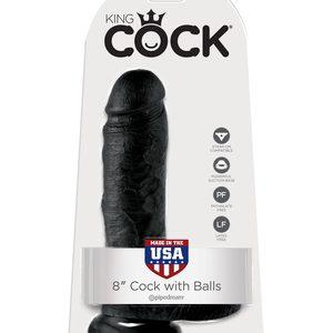 PipeDream    King Cock Фаллоимитатор реалистик с мошонкой на присоске черный