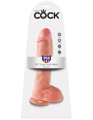PipeDream    King Cock Фаллоимитатор реалистик с мошонкой на присоске телесный