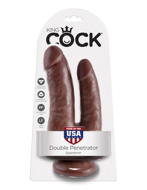 PipeDream  King Cock Double Penetrator Фаллоимитатор реалистик двойной на присоске коричневый