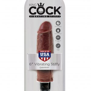 PipeDream King Cock 6''Vibrating Stiffy Вибратор коричневый
