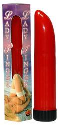 Вибратор Ladyfinger красный