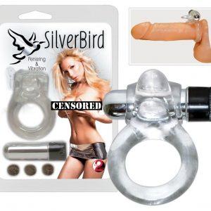Виброкольцо эрекционное Silver Bird