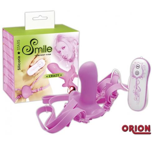 Smile Клиторальный вибратор Crazy розовый