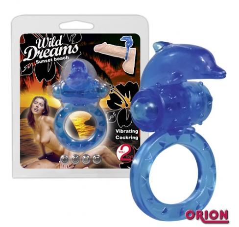 Виброкольцо на пенис Wild Dreams синий