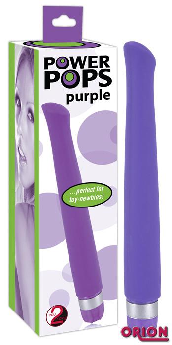 Power Pops вибратор фиолетовый L-17 см, D-1.5 см.