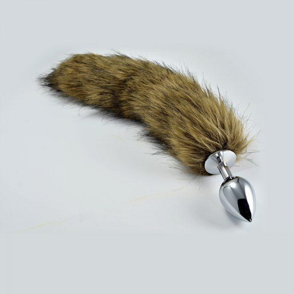 LOVETOY Tail Волчий хвост Small Серебряная втулка , l=6,8 см, d=2,8 см