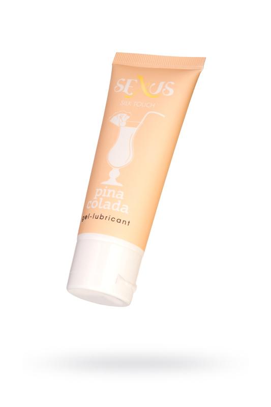 Гель-лубрикант Sexus на водной основе с ароматом Пина Колада Silk Touch Pinacolada 50 мл