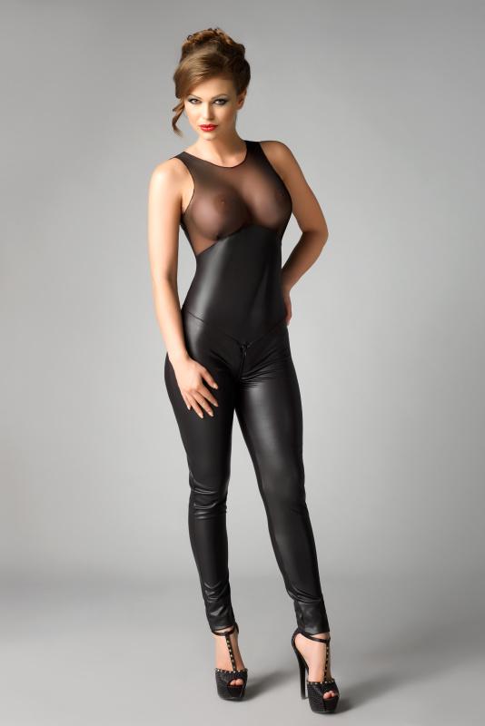 Комбинезон Me Seduce Demi, экокожа, чёрный, L/XL