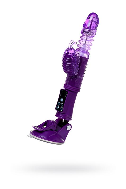 Вибратор с клиторальным стимулятором TOYFA A-Toys  High-Tech fantasy, TPR, Фиолетовый, 23 см