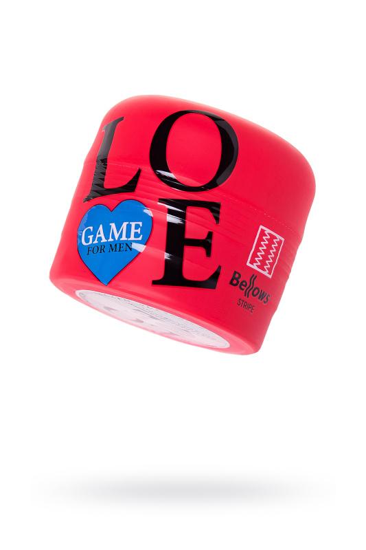 Мастурбатор нереалистичный Lovegame High pressure, TPE, красный, 15 см