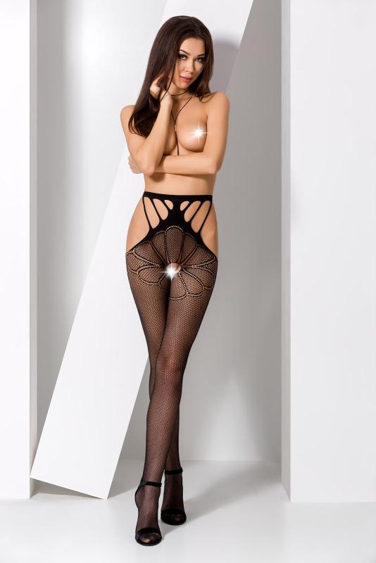 Колготки Passion Erotic Line с доступом, черные, OS