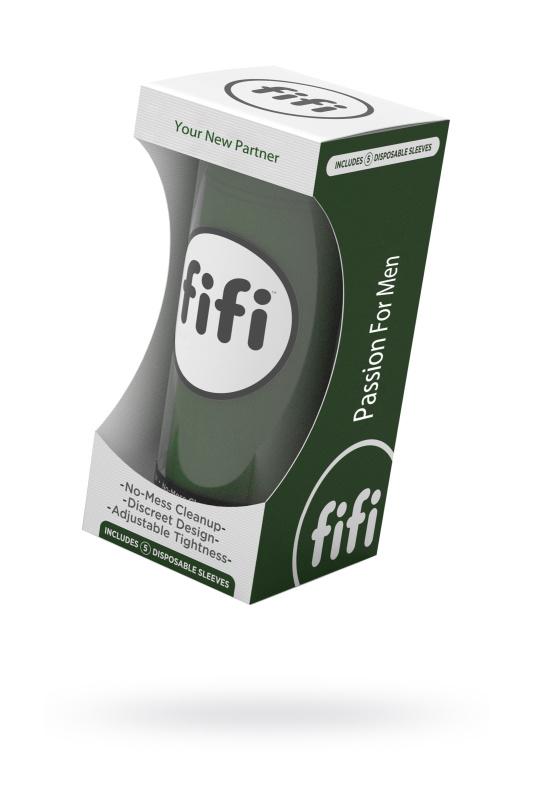Мастурбатор нереалистичный FIFI MALE, текстиль, зелёный