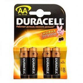 Пальчиковые батарейки типа АА Duracell LR6 New 4 шт