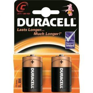 Батарейки типа С Duracell LR14 2 шт