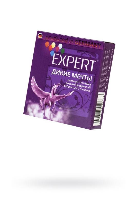 Презервативы Expert ''Дикие мечты'' №3, микс: ребристые, с точками, прочные, 3шт