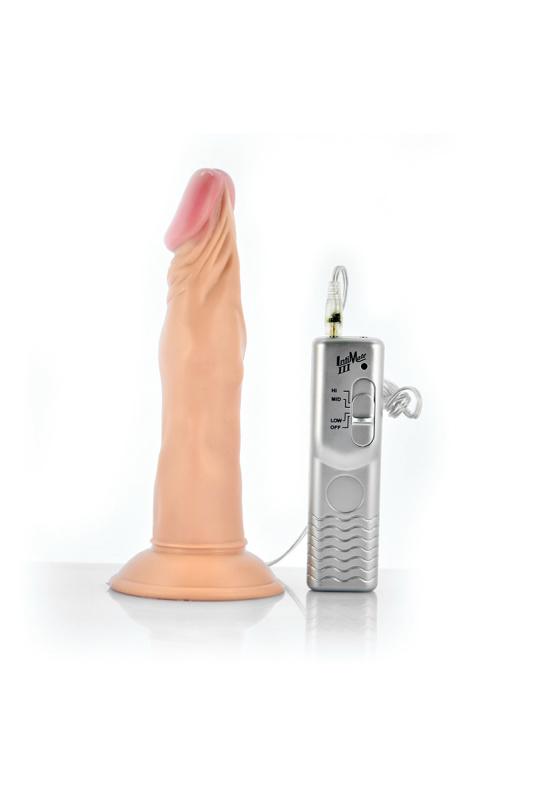 Реалистичный вибратор Lovetoy, PVC, 3 режима вибрации, 18 см