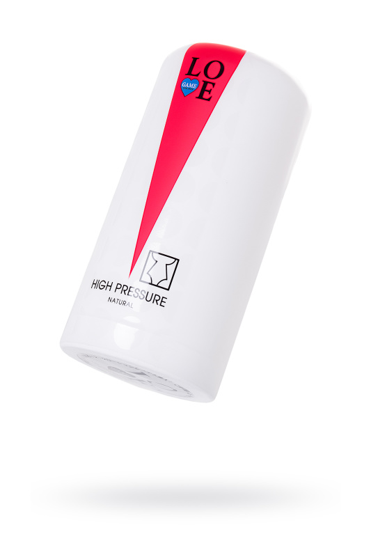 Мастурбатор нереалистичный Lovegame High pressure, TPE, белый, 15 см