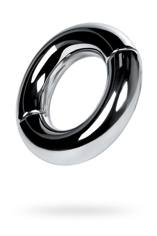Утяжелитель на мошонку на магнитах, TOYFA Metal, серебристый